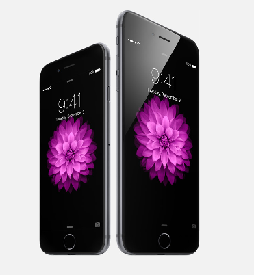 The new iPhone 6 announced today during Apple's keynote